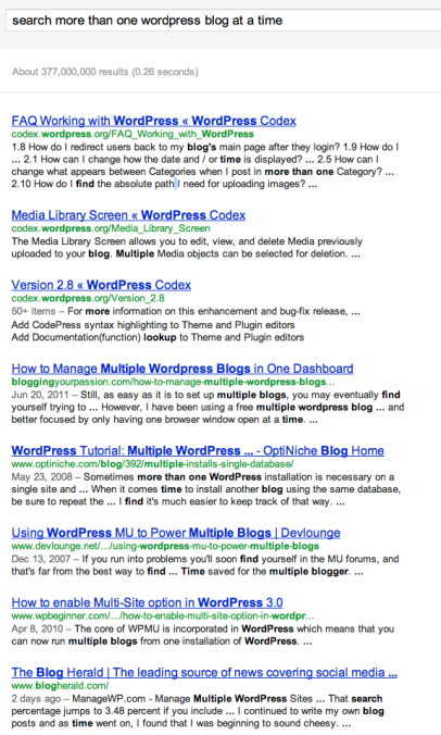 Google search results for - search more than one wordpress blog at a time - Screen Shot 2011-12-24 at 1.02.51 PM