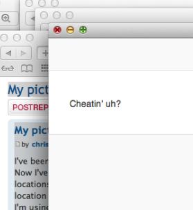 Cheatin' ?!