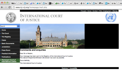 Screen Shot 2012-01-29 at 10.05.01 PM - Dear International Court of Justice ...your message has been received...