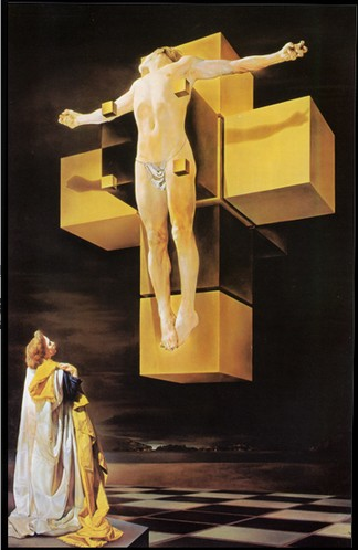 In 1954 Savadore Dali suggested a relationship between the Kaba and the Cross - Screen shot 2012-07-08 at 03.53.13