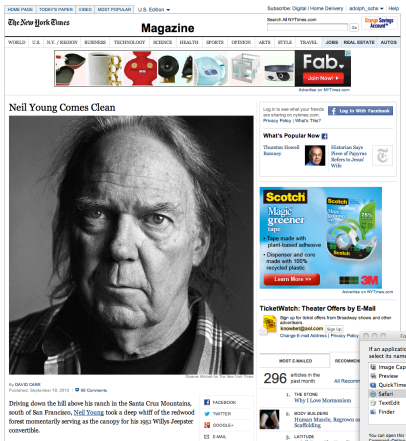 "Monday: ""Strange""; xref: ""Hello, Mr. Soul (sole),"" xref: Wednesday, NYTimes.com re: Neil Young - Screen shot 2012-09-18 at 22.54.51"