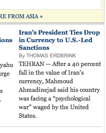 NYTimes.com quote of Iranian President found after posting re: AIP&FFT - Screen shot 2012-10-02 at 09.59.03